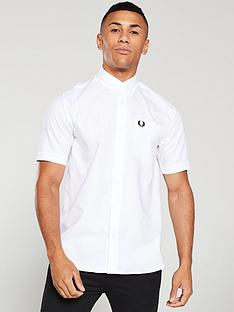 fred-perry-short-sleeved-oxford-shirt-white