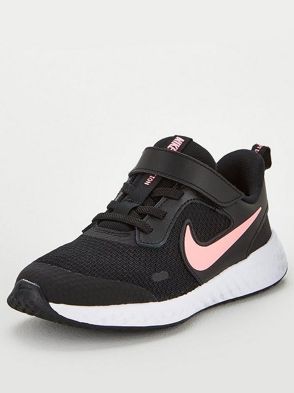 Elaborar Suyo Ruidoso  Nike Revolution 5 Childrens Trainers - Black/Pink | very.co.uk