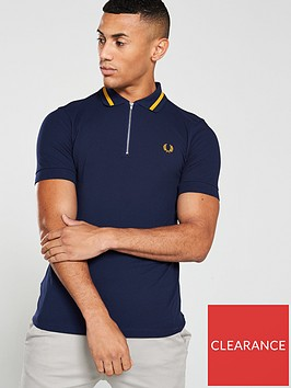 fred-perry-vinyl-tipped-pique-polo-shirt-carbon-blue