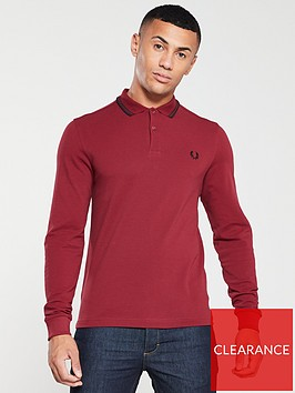 fred-perry-long-sleeved-twin-tipped-polo-shirt-dark-red