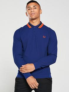 fred-perry-striped-collar-polo-shirt-medieval-blue