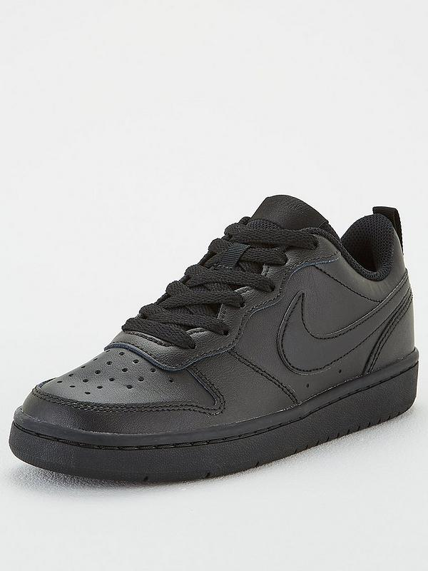 vitalidad Sala católico  Nike Court Borough Low 2 Junior Trainer - Black | very.co.uk