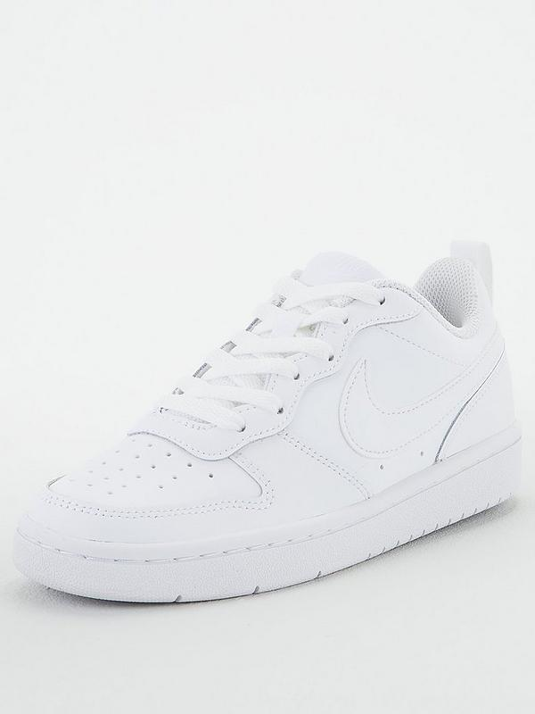sinsonte Refinería liebre  Nike Court Borough Low 2 Junior Trainer - White | very.co.uk