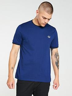 fred-perry-twin-tipped-t-shirt-medieval-blue