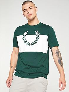 fred-perry-split-laurel-wreath-t-shirt-ivy-green
