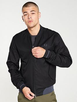 fred-perry-twill-bomber-jacket-black