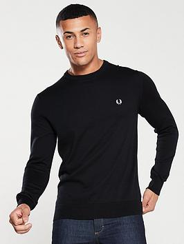fred-perry-classic-crew-neck-jumper-black