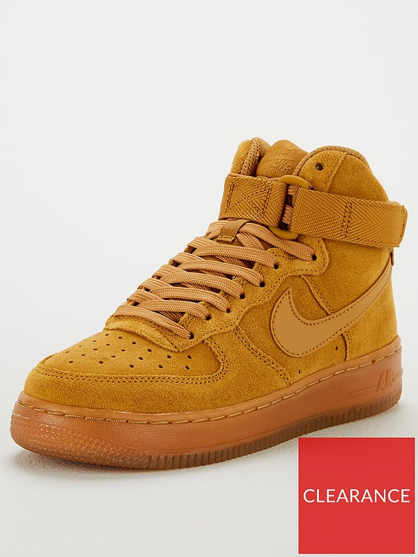 Air Force 1 High LV8 3 Junior Trainers Sand
