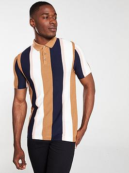 river-island-short-sleeve-stripe-polo