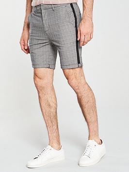 river-island-grey-check-skinny-fit-chino-shorts
