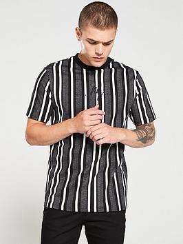 river-island-grey-stripe-maison-riviera-t-shirt