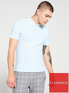 river-island-blue-stitch-muscle-fit-polo-shirt