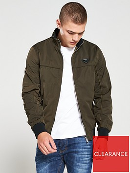 river-island-dark-green-zip-front-racer-jacket