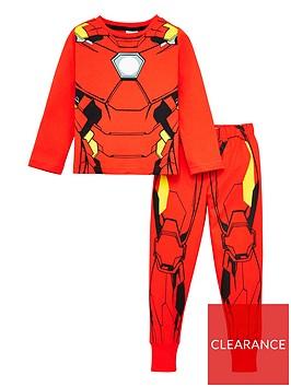 marvel-toddler-boys-iron-man-pyjamas-red