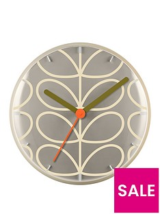 orla-kiely-house-linear-stem-wall-clock-light-grey