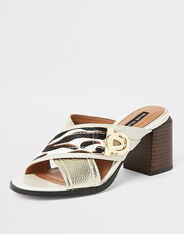 river-island-river-island-animal-print-block-heel-mule-sandals-ecru