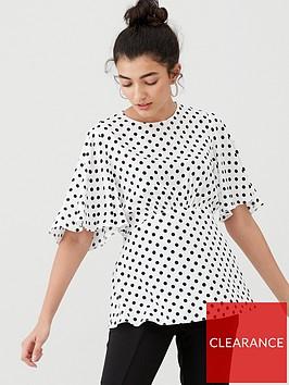 v-by-very-kimono-sleeve-tie-back-blouse-print