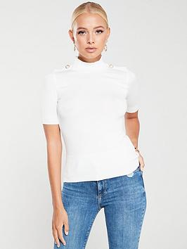 river-island-river-island-knitted-pearl-detail-top-cream