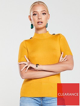river-island-river-island-knitted-pearl-detail-top--ochre