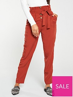 v-by-very-soft-belted-tapered-leg-trouser-rust