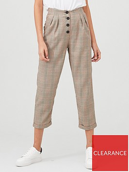 v-by-very-checked-trouser-brown