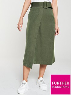 v-by-very-belted-causual-wrap-skirt-olive
