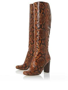 dune-london-simonne-high-heel-high-leg-boots-snake-print