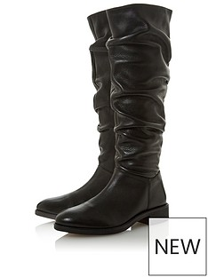 dune-london-tabatha-ruched-high-leg-boot