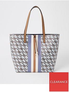 river-island-river-island-monogram-shopper-bag-light-blue