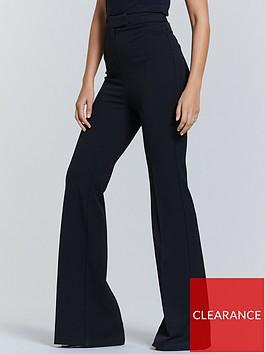 michelle-keegan-flared-tailored-trouser-black