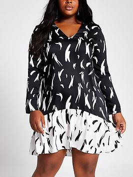 ri-plus-printed-swing-dress-black
