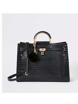 river-island-croc-tote-bag-black
