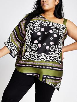 ri-plus-printed-one-shoulder-top-khaki