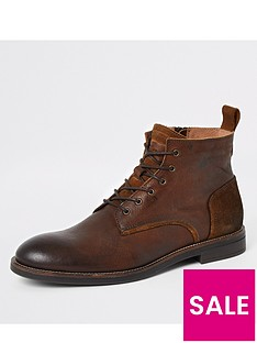 river-island-brown-leather-lace-up-chukka-boots