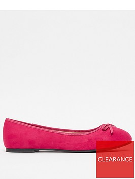 evans-extra-wide-fit-ballet-shoes-pink