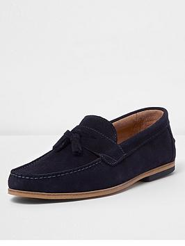 river-island-navy-suede-tassel-loafers