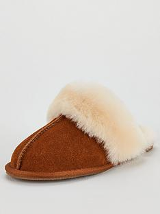v-by-very-whistle-real-suede-sheepskin-slippers-chestnut