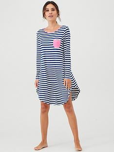 pour-moi-jersey-stripe-long-sleeve-secret-support-nightdress-navywhitepinknbsp