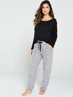 pour-moi-sofa-love-cuffed-pyjama-trouser-grey-marl