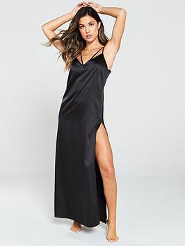 pour-moi-dusk-satin-full-length-chemise-black
