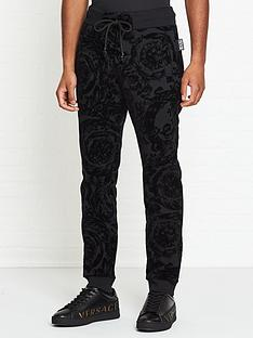 versace-jeans-couture-flocked-back-logo-joggers-black