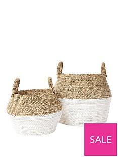 river-island-set-of-2-beige-handwoven-seagrass-baskets