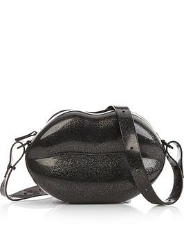 melissa-glitter-lips-bag--nbspblack