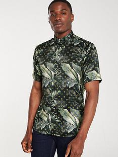 river-island-navy-slim-fit-palm-tree-print-shirt