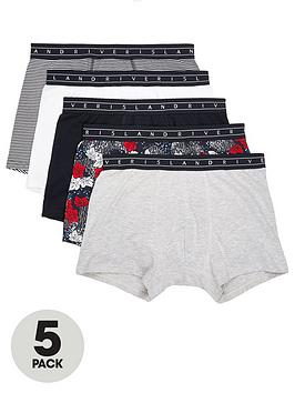 river-island-floral-and-stripe-print-trunk-5-pack