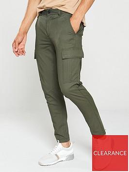 river-island-khaki-skinny-cargo-trousers