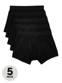 river-island-black-ri-waistband-trunks-5-pack