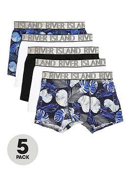river-island-blue-floral-print-trunk-5-pack