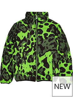 sometime-soon-boys-thor-leopard-print-padded-coat-green
