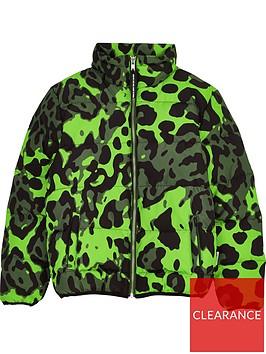 sometime-soon-boys-thor-leopard-print-padded-coat-green